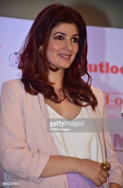 Actress Twinkle Khanna attend the Outlook Social Media Awards Jury Meet at hotel Taj Lands End Bandra in Mumbai