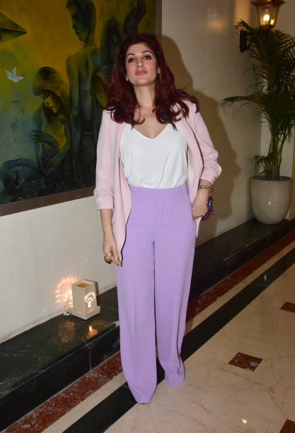 Actress Twinkle Khanna attend the `Outlook Social Media Awards` Jury Meet at hotel Taj Lands End Bandra in Mumbai