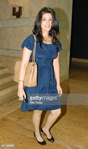Actress Twinkle Khanna on the fifth and final day of Lakme Fashion Week Spring/Summer 2010 in Mumbai on September 22 2009