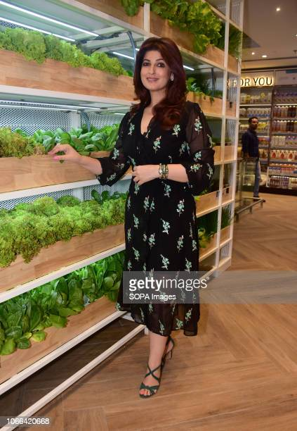 Actress Twinkle Khanna seen during the opening of the foodhall superstore by the Future Group spread across four levels and 25000sqft area at the...