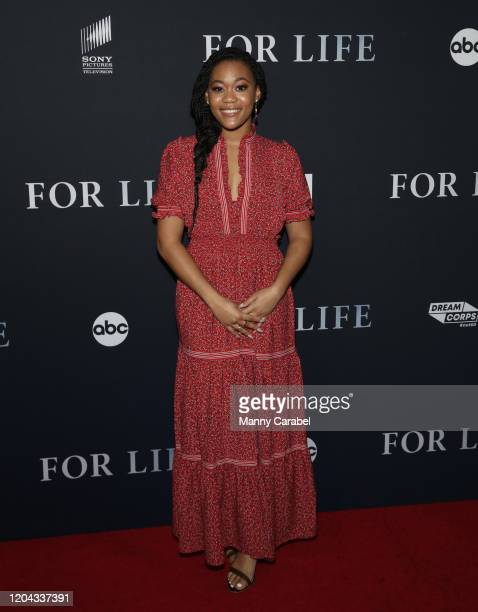 Actress Tyla Harris attends ABC's For Life New York premiere at Alice Tully Hall Lincoln Center on February 05 2020 in New York City