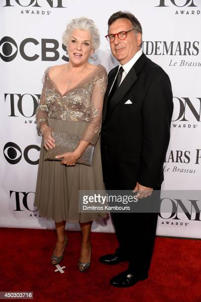 Actress Tyne Daly and guest attend the 68th Annual Tony Awards at Radio City Music Hall on June 8 2014 in New York City