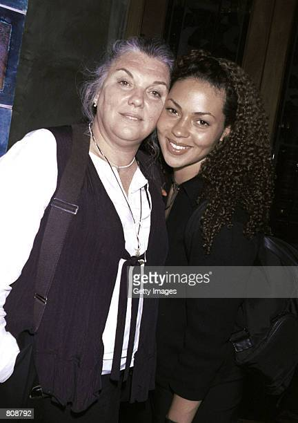 Actress Tyne Daly and her daughter smile outside Spago's restaurant April 23 2001 in Los Angeles CA
