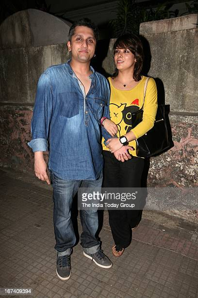 Actress Udita Goswami and Director Mohit Suri at screening of Aashiqui 2 in Mumbai on 24th April 2013