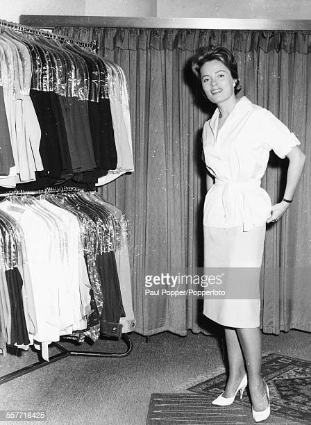 Actress Ulla Jacobsson trying on clothes on a visit to Berlin in Germany September 23rd 1961