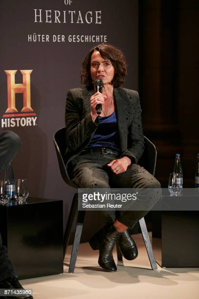 Actress Ulrike Folkerts is seen at the preview screening of the new documentary 'Guardians of Heritage Hueter der Geschichte' by German TV channel...