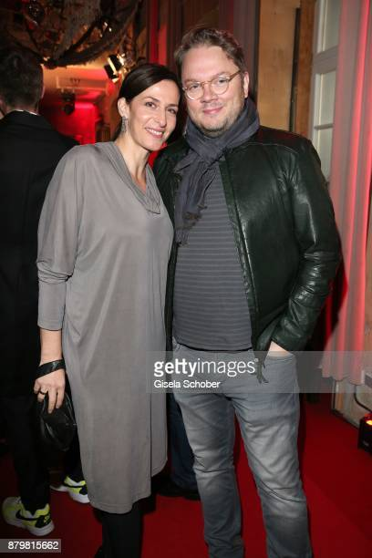 Actress Ulrike Frank and her husband Marc Schubringl during the New Faces Award Style 2017 at 'The Grand' hotel on November 15 2017 in Berlin Germany