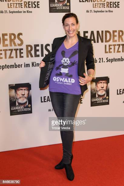 Actress Ulrike Frank attends the 'Leanders Letzte Reise' Premiere at Kino in der Kulturbrauerei on September 13 2017 in Berlin Germany