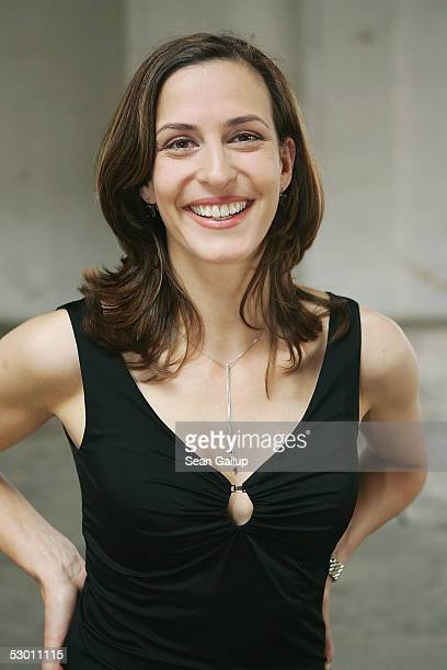 """Actress Ulrike Frank poses at a photocall on the set of the German television series """"Gute Zeiten, Schlechte Zeiten"""" June 2, 2005 in Berlin, Germany."""