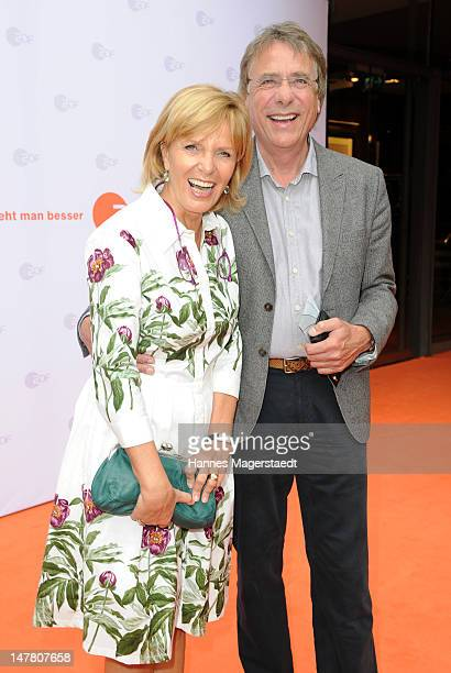 Actress Ulrike Kriener and her husband Georg Weber attend the ZDF reception during the Munich Film Festival 2012 at the H'ugo's on July 3 2012 in...