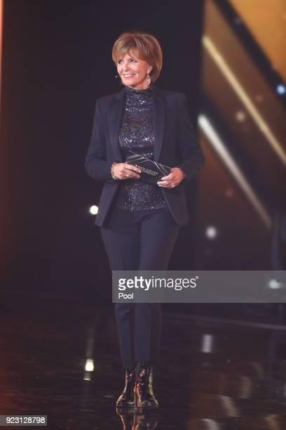Actress Ulrike Kriener during the show of 'Goldene Kamera 2018' at Messehallen on February 22 2018 in Hamburg Germany