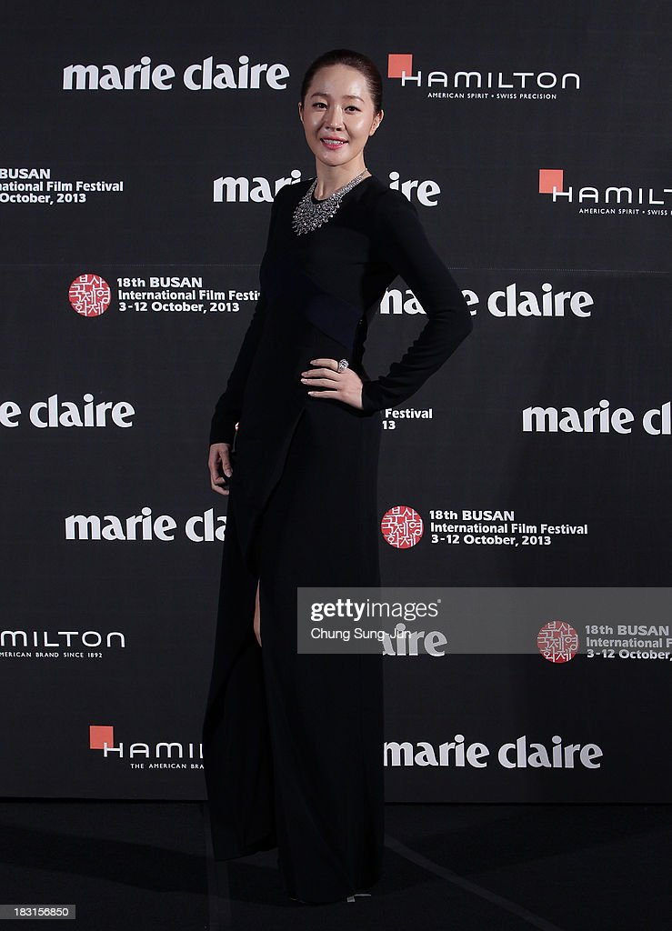 Actress Um Jee-Won arrives for the marie claire Asia Star Awards during the 18th Busan International Film Festival on October 5, 2013 in Busan, South Korea.