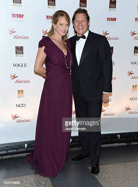 Actress Uma Thurman and Arpad Busson attend the Annual Brazil Foundation Gala Party at the American Museum of Natural History on September 19 2012 in...