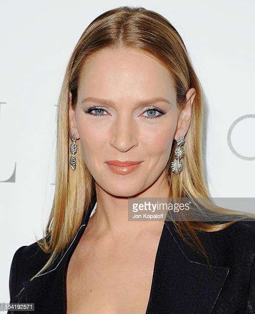 Actress Uma Thurman arrives at the 19th Annual ELLE Women In Hollywood Celebration at the Four Seasons Hotel Los Angeles at Beverly Hills on October...