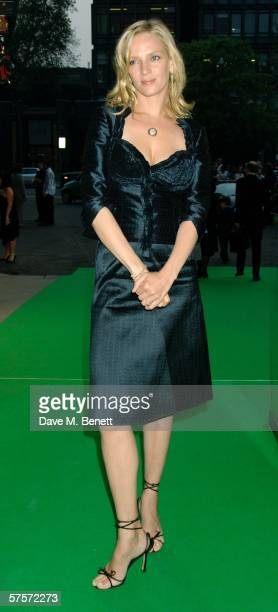 Actress Uma Thurman arrives at the Dream Auction Full Stop party designed to launch NSPCC's There4Me online service an interactive but confidential...