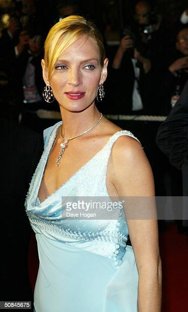 Actress Uma Thurman arrives to the premiere of Kill Bill II at the Palais des Festivals during the 57th Annual International Cannes Film Festival May...
