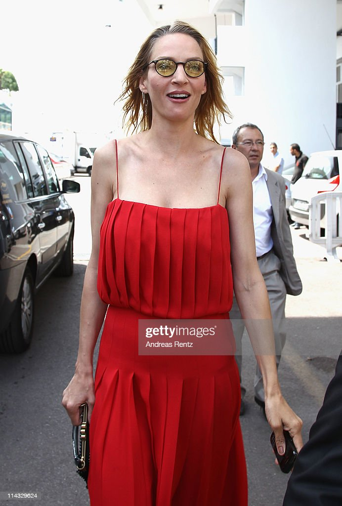 Actress Uma Thurman at the Palais des Festivals during the 64th Annual Cannes Film Festival on May 18, 2011 in Cannes, France.
