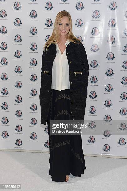 Actress Uma Thurman attends a private dinner celebrating Remo Ruffini and Moncler's 60th Anniversary during Art Basel Miami Beach on December 7 2012...