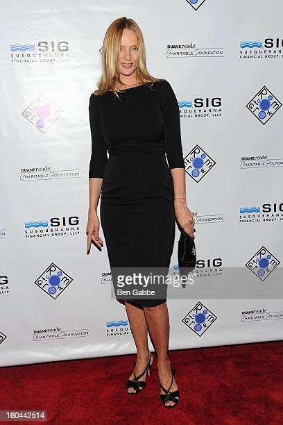Actress Uma Thurman attends Annual Gala To Benefit Room To Grow at Mandarin Oriental Hotel on January 31 2013 in New York City