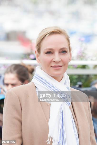 Actress Uma Thurman attends Jury Un Certain Regard Photocall during the 70th annual Cannes Film Festival at Palais des Festivals on May 18 2017 in...
