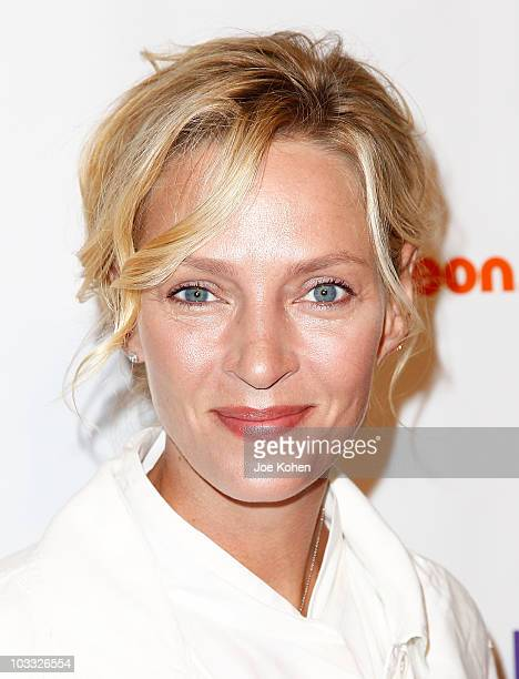 Actress Uma Thurman attends Nickelodeon's Beyond the Backpack Campaign backpack unveiling at Macy's Herald Square on August 10 2010 in New York City
