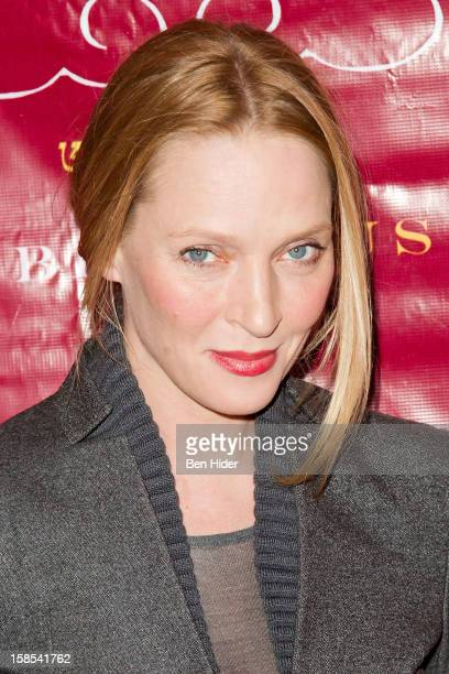 Actress Uma Thurman attends the 10th annual Tibet House Benefit Auction at Christie's Auction House on December 18 2012 in New York City
