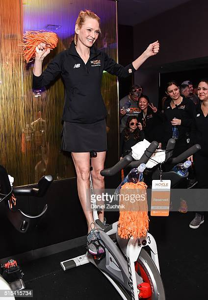 Actress Uma Thurman attends the 2016 Cycle For Survival Indoor Team Cycling Event at Equinox Bryant Park on March 13 2016 in New York City
