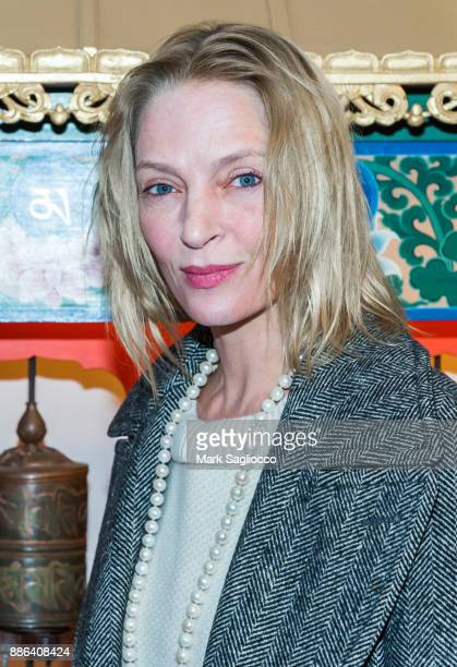 Actress Uma Thurman attends the 2017 Tibet House Benefit Auction at the Tibet House on December 4 2017 in New York City