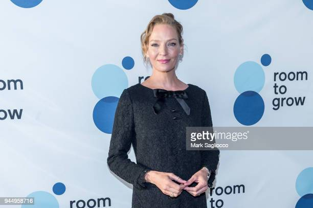 Actress Uma Thurman attends the 20th Annual Room To Grow Spring Benefit at The Lighthouse at Chelsea Piers on April 11 2018 in New York City