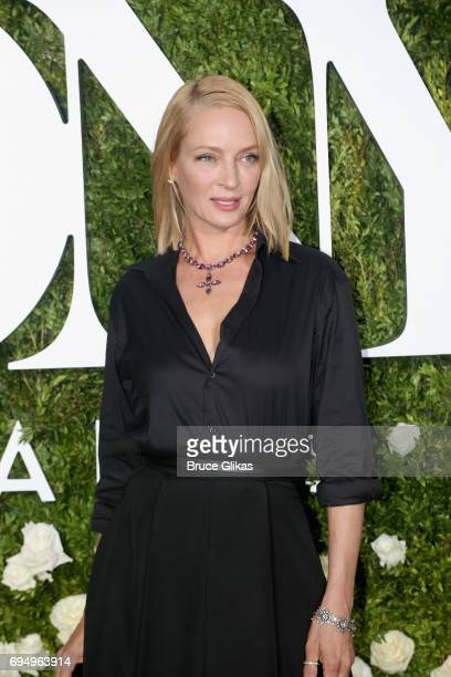 Actress Uma Thurman attends the 71st Annual Tony Awards at Radio City Music Hall on June 11 2017 in New York City