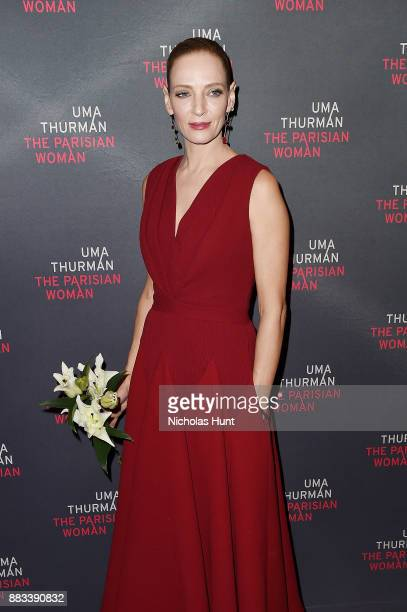 Actress Uma Thurman attends the broadway opening night of The Parisian Woman at The Hudson Theatre on November 30 2017 in New York City