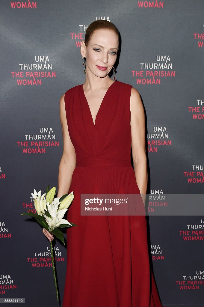 Actress Uma Thurman attends the broadway opening night of 'The Parisian Woman' at The Hudson Theatre on November 30, 2017 in New York City.