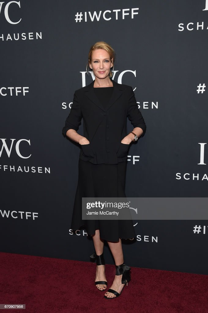 Actress Uma Thurman attends the exclusive gala event 'For the Love of Cinema' during the Tribeca Film Festival hosted by luxury watch manufacturer IWC Schaffhausen on April 20, 2017 in New York City.