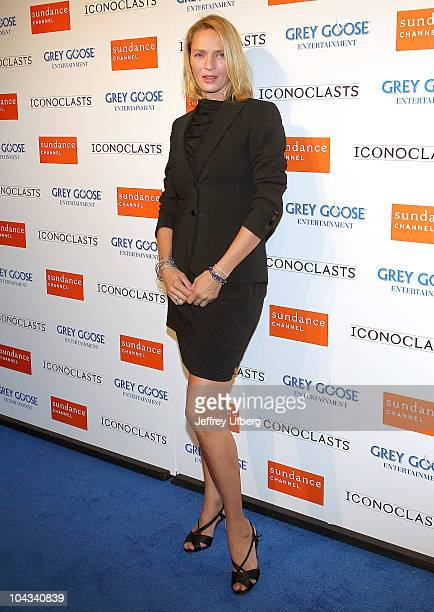 Actress Uma Thurman attends the Iconoclasts 5th Anniversary Party at Lavo on September 21 2010 in New York City