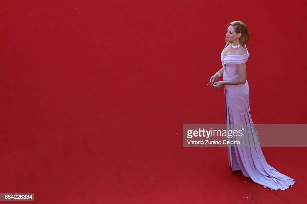 Actress Uma Thurman attends the 'Ismael's Ghosts ' screening and Opening Gala during the Opening Ceremony of the 70th annual Cannes Film Festival at...