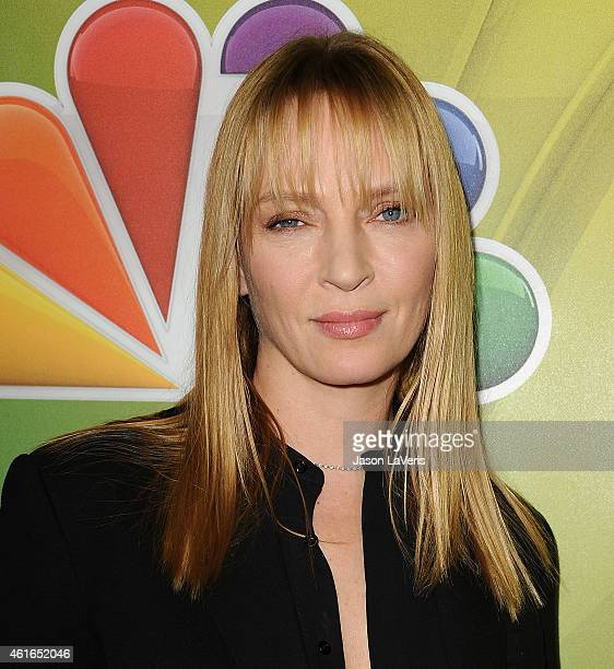 Actress Uma Thurman attends the NBCUniversal 2015 press tour at The Langham Huntington Hotel and Spa on January 16 2015 in Pasadena California