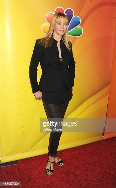 Actress Uma Thurman attends the NBCUniversal 2015 Press Tour at the Langham Huntington Hotel on January 16 2015 in Pasadena California