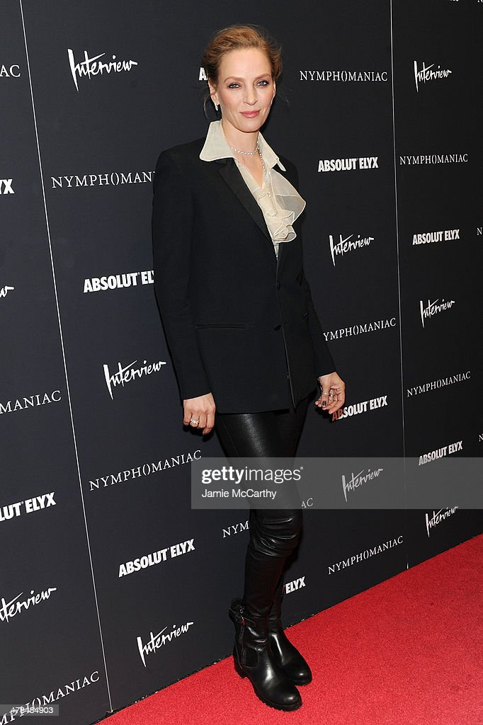 Actress Uma Thurman attends the 'Nymphomaniac: Volume I' New York screening at Museum of Modern Art on March 13, 2014 in New York City.