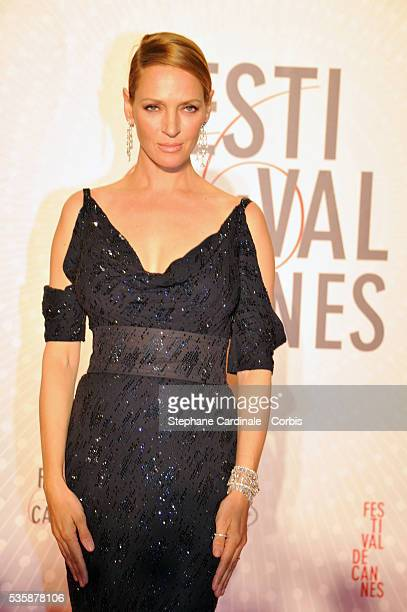 Actress Uma Thurman attends the 'Palme D'Or Winners dinner' during the 66th Cannes International Film Festival