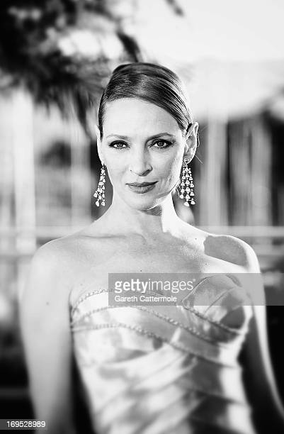Actress Uma Thurman attends the Palme D'Or Winners Photocall during the 66th Annual Cannes Film Festival at the Palais des Festivals on May 26, 2013...