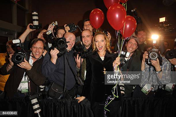 Actress Uma Thurman attends the premiere of Motherhood during the 2009 Sundance Film Festival at Eccles Theatre on January 21 2009 in Park City Utah