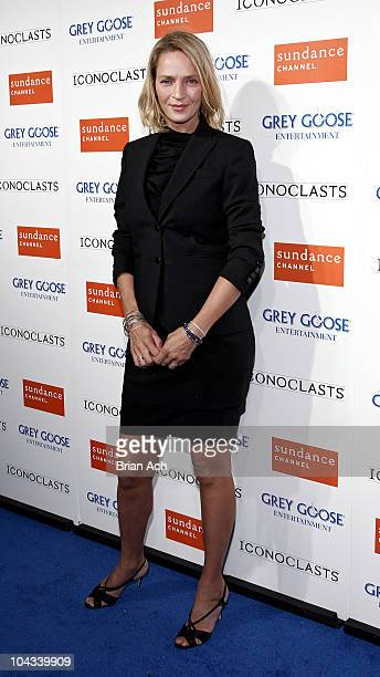 Actress Uma Thurman attends the Sundance Channel's ICONOCLASTS season 5 launch party at Lavo on September 21 2010 in New York City