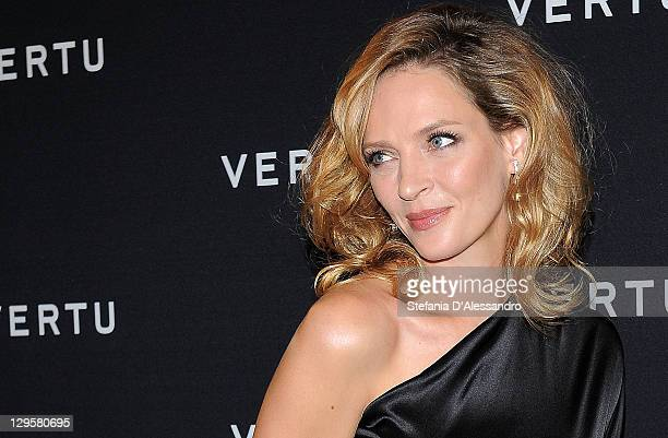 Actress Uma Thurman attends the Vertu Global Launch Of The 'Constellation' at Palazzo Serbelloni on October 18, 2011 in Milan, Italy