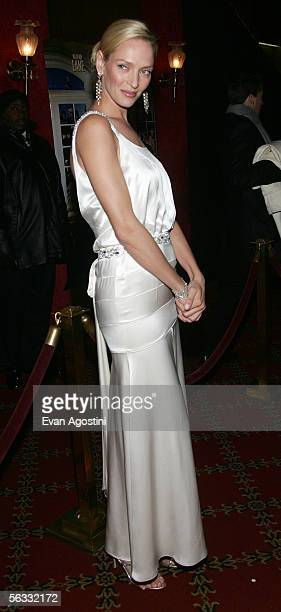 Actress Uma Thurman attends the World Premiere of The Producers at the Ziegfeld Theatre December 4 2005 in New York City