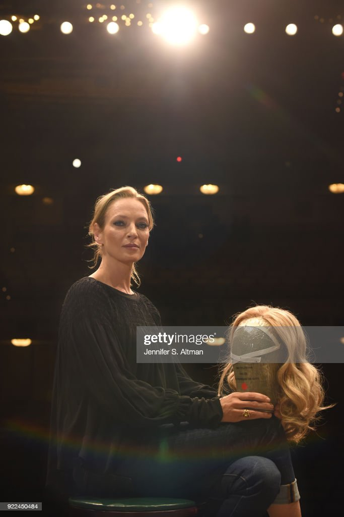 Uma Thurman, Boston Globe, November 23, 2017 : ニュース写真