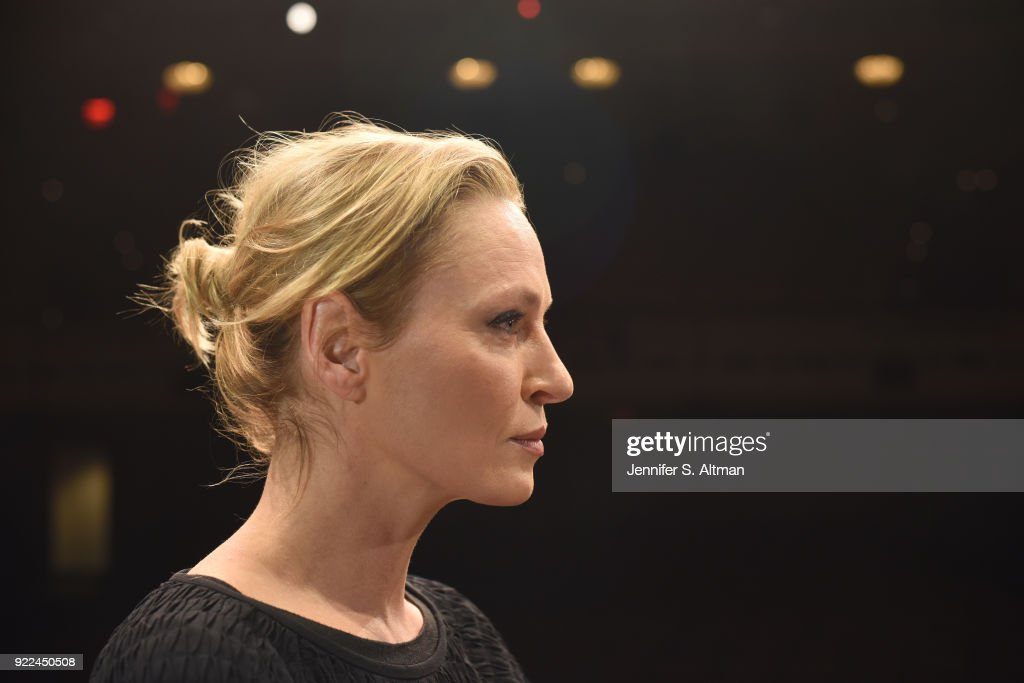 Actress Uma Thurman is photographed for Boston Globe on November 17, 2017 in New York City.
