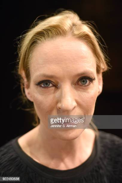 Actress Uma Thurman is photographed for Boston Globe on November 17 2017 in New York City