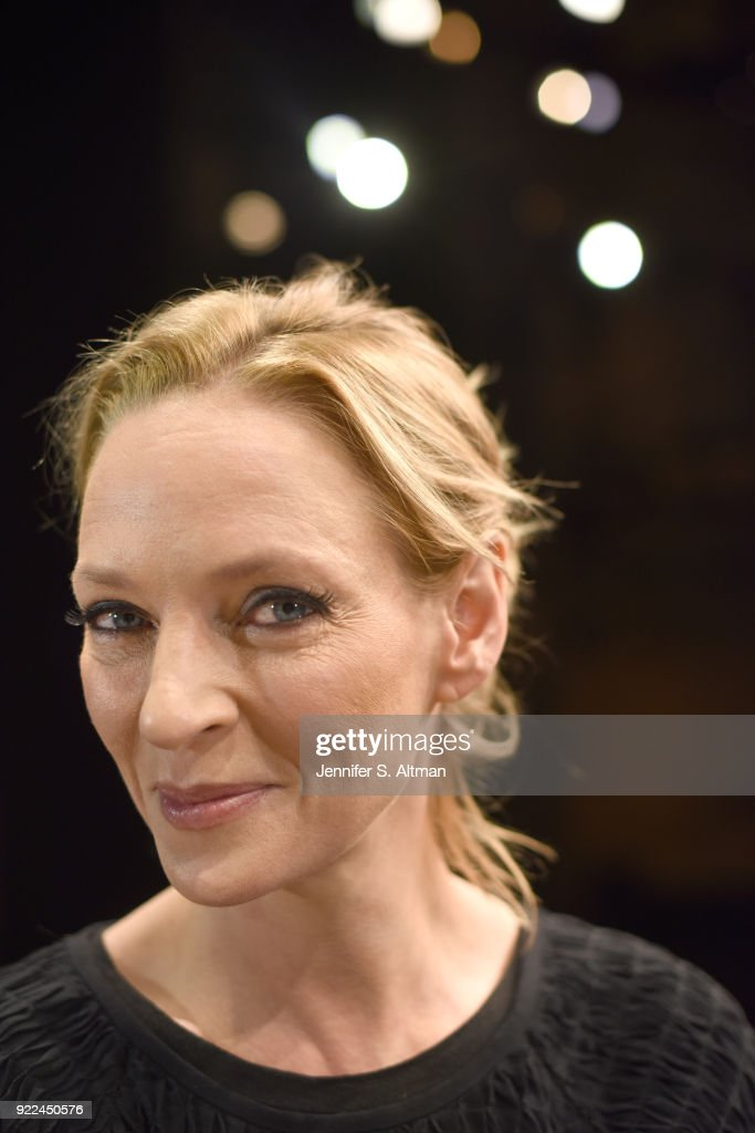 Uma Thurman, Boston Globe, November 23, 2017 : News Photo