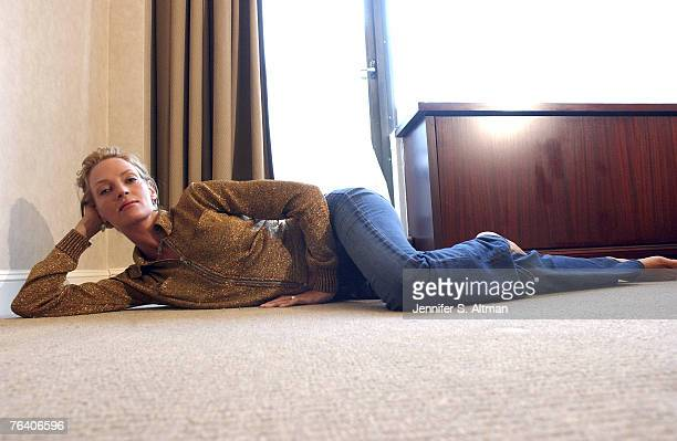 Actress Uma Thurman is photographed for the Los Angeles Times on August 25 2003 in New York City