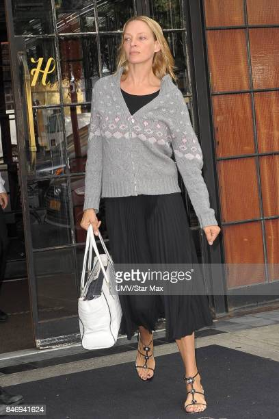 Actress Uma Thurman is seen on September 14 2017 in New York City